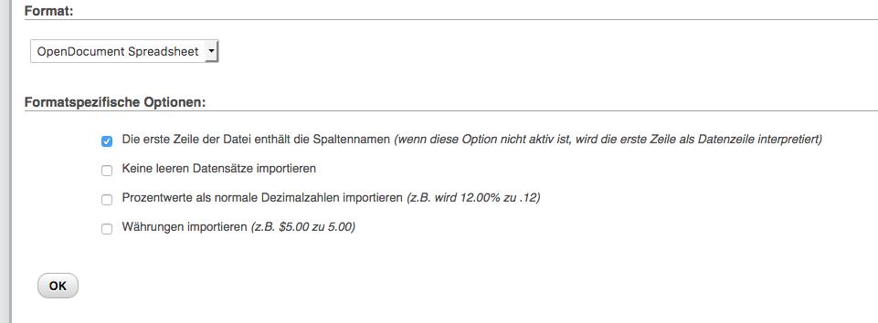 import sql details